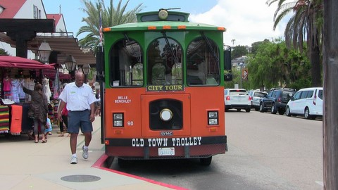 San Diego old town  bus